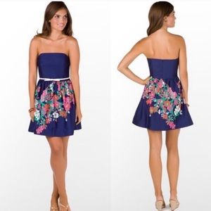 LILLY PULITZER Floral Strapless Lottie Dress 4